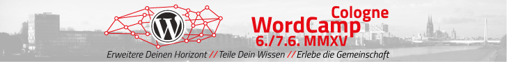 WordCamp Köln 2015 – Wir fahren hin