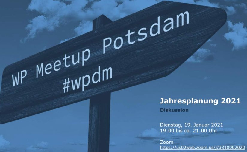 [Online] Januar-Ausgabe: WordPress Meetup am 19.01. in Potsdam