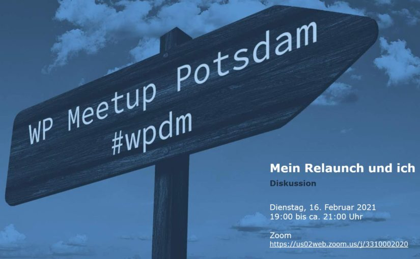 [Online] Februar-Ausgabe: WordPress Meetup am 16.02. in Potsdam