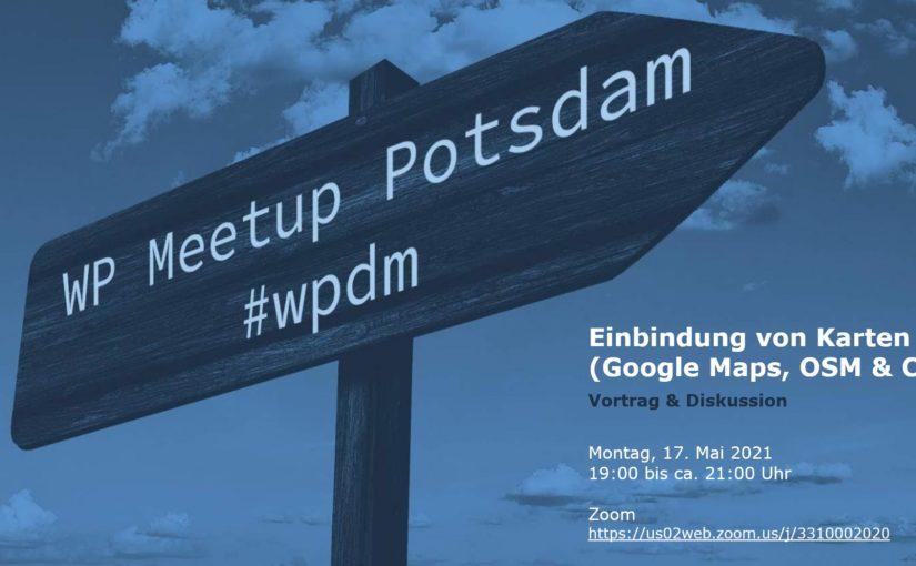 [Online] Mai-Ausgabe: WordPress Meetup am 17.05. in Potsdam